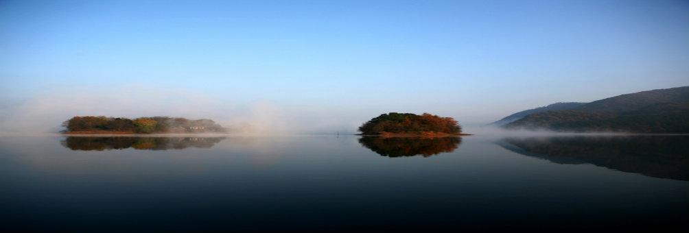 秀美罗山——九里落雁湖