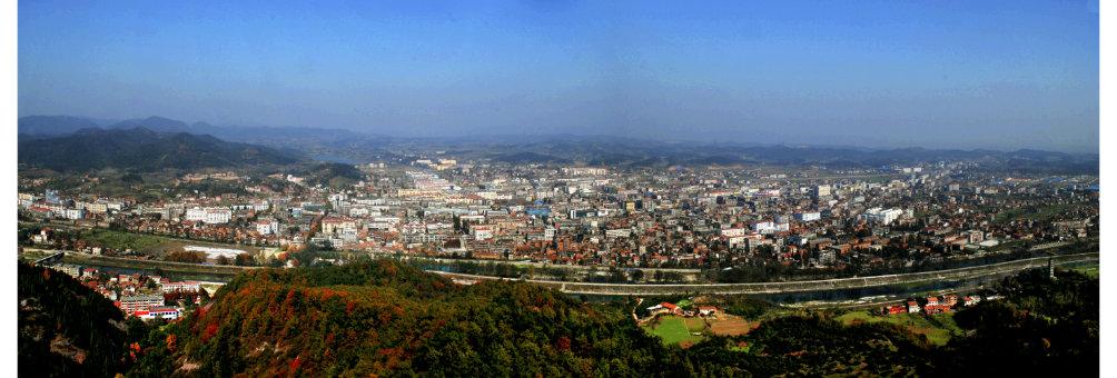 南漳县城远眺