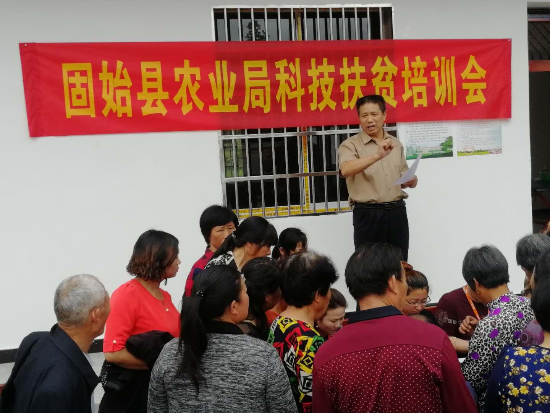 县农业局派农业专家来武庙余楼村宣传水稻和农作物防治技术