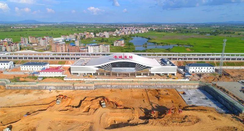 丰城高铁站建设进入倒计时 昌赣高铁12月将正式通车