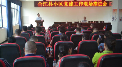 合江县小区党建 现场推进会在桥凼社区召开