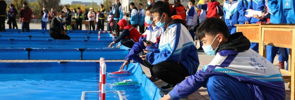 甘肃省青少年科技体育航空航天航海模型车辆模型教育竞赛在临泽县举办