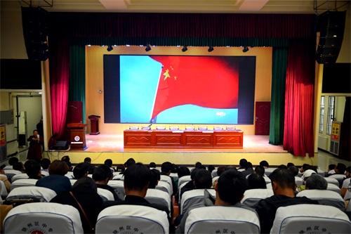陕州区中专组织观看《榜样5》专题节目